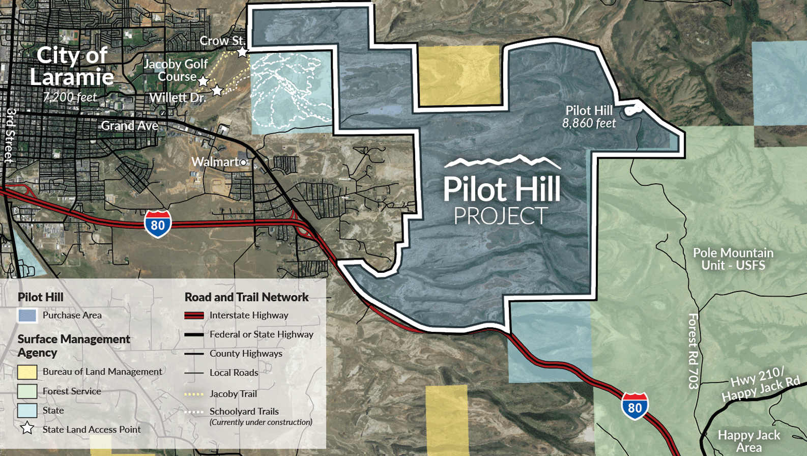 Pilot Hill Project map